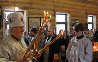 Первая архиерейская служба в нашем храме